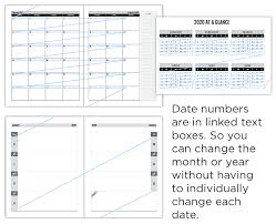Free Online Monthly Planner Create 2020 Planners Diaries Calendar Pdfs With Indesign