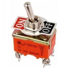 <b>Тумблер 250V 6A</b> (4 конт.) вкл--выкл двухполюсной <b>Rexant</b>