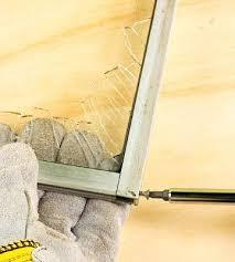 aluminum window frame repair step 1 remove glass