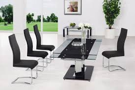 dining table black glass stunning glass extendable dining table style