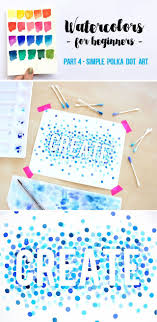 Easy DIY Watercolor for Beginners 4 - Polka Dot Art. Use Q-tips,