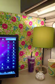 cubicle office decor pink. A Touch Of Home In Green And Pink Cubicle Office Decor N