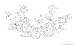 Pokemon Coloring Pages Eevee Coloring Pages Evolution Coloring