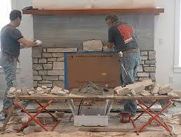 Gorgeous New Fireplace Facade  Creative Faux PanelsFake Stone Fireplace