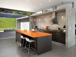 Grey Modern Kitchen Design Grey Island Also Cabinetry With Hardwood Countertop Also White