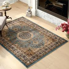 brown blue area rugs gray rug living heather