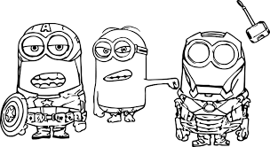 Small Picture Minion Super Heroes Coloring Page Wecoloringpage