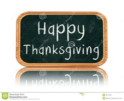 Happy thanksgiving day on blackboard banner