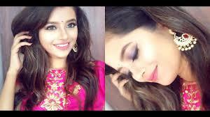 indian wedding guest makeup tutorial blue pink long lasting makeup shweta makeup beauty you