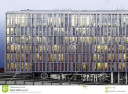 office building facade. building business facade modern night office n