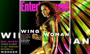 Gal Gadot trades her classic superhero costume for new gold winged armor in  Wonder Woman 1984 | Daily Mail Online