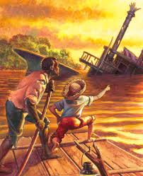 the father son relationship of jim and huck in mark twain s huck and jim from the adventures of huckleberry finn