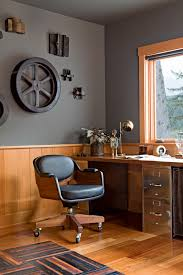 wooden desk chair home office with leather office chair nautical office