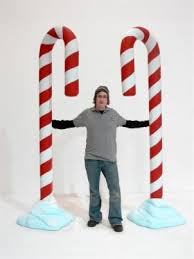 Giant Candy Canes Decorations Giant Candy Cane Prop Snow I like the proportions at entrances 2