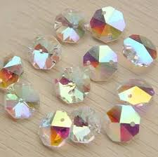 1000pcs lot ab14mm octagon beads 2 holes crystal glass chandelier parts crystal crystal lighting beads prism pendants
