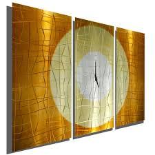 large modern abstract copper metal wall art sculpture clock warm embrace
