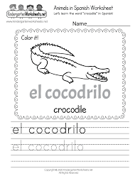 These worksheets help kids learn to use letters to make sounds and words. Learn How To Write Crocodile In Spanish Worksheet Free Printable