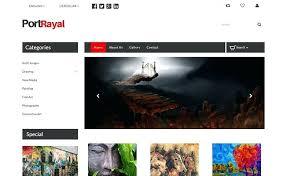 Art Gallery Website Template Free Art Gallery Mobile Website