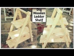 how to make wooden folding ladder shelf