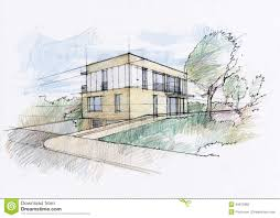architecture houses sketch. Simple Sketch Modern House Sketch Cubic Architectural Hand Rendering And Architecture Houses Sketch E