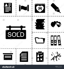 Paper Icon Set 13 Filled Paper Stock Vector 713539858 Shutterstock
