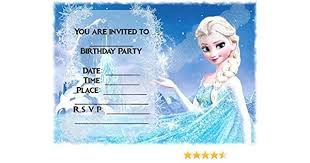 Frozen Birthday Invitations Disney Frozen Birthday Party Invites Elsa Magical Mountain Design Party Supplies Accessories Pack Of 12 A5 Invitations With Envelopes