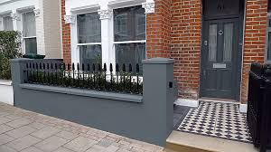 Small Picture Front Garden Design grey walls planting Balham Clapham Wandsworth