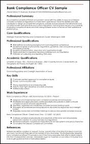 Bank Compliance Officer Cv Sample Myperfectcv With Regard To