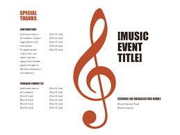 sample concert program music program office templates
