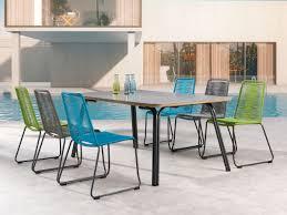 Moderne Garten Essgruppe Symi Esstisch Beton 6 Stühle