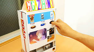 Papercraft Vending Machine Mesmerizing When The Button Is Pushed The Original Mini Can Comes Out Dido
