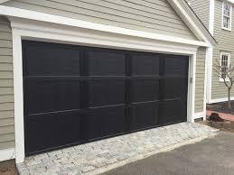 D Residential Black Steel Garage Door