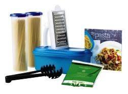 pasta party plete set includes tupperware microwave pasta maker 25 pasta creations recipe book simple indulgence itali s i love pinte