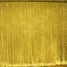 3m 18m led yellow fairy curtain lights for fabric backdrops decoration clear wire
