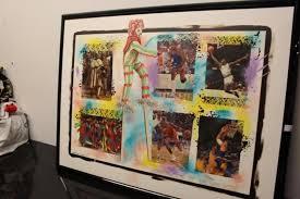 "Lot #247December 19, 1989, ""Spectacle at Milwaukee"" Acryllic on Masonite,  Artist Gerald Duane Coleman"
