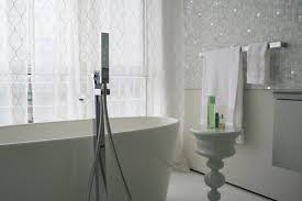 Contemporary White Glass Bathroom Tiles Of Mosaic Tile H With Design Ideas