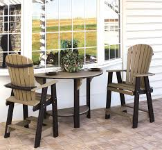 chic outdoor pub furniture poly half round bar height table from pertaining to stylish house half round pub table plan