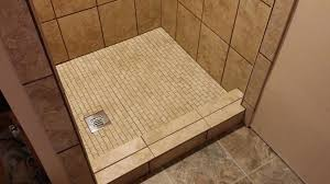 custom made shower pans for tile how to build a pan install floor base