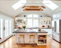 kitchen lighting over island eat in mid sized traditional single wall medium tone wood floor20 lighting