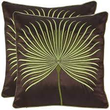 Green And Brown Decorative Pillows