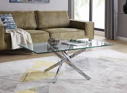 leonardo glass chrome coffee table