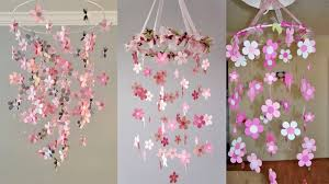 Paper Flower Mobiles Diy Paper Flowers Hanging Paper Flowers Diy Handmade Decoration Wall Hanging Jhumar