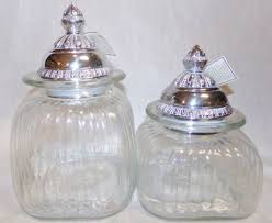 carson home accents medium small classic square glass canisters clear