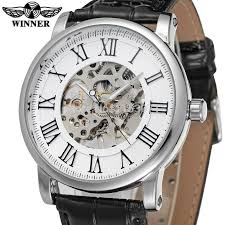 mens watch companies reviews online shopping mens watch wrg8051m3s2 latest winner mechanical skeleton men watch gift box black leather strap factory company shipping