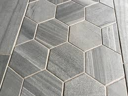 an example of hexagon tile in a large format tile in a wood like concrete