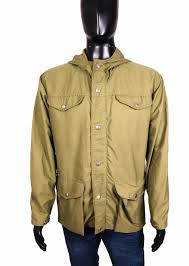 Details About Fjallraven Mens Outdoor Jacket Hood Khaki Size 50