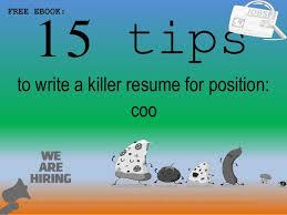 Coo Resume Sample Pdf Ebook Free Download