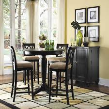 american drew camden dark black bar height 42 round pedestal table ideas of tall round kitchen