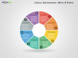 Slide Circle Circle Infographic With 8 Parts For Powerpoint