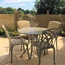 hannah 4 seater patio table chairs